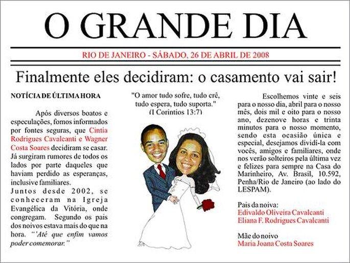 Convites de Casamento Originais - www.seucasamento.info