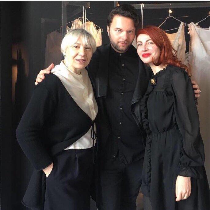 Fabiana Bassani con Alessio Lorusso e Elisabetta Delogu