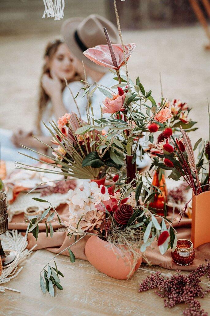 Die Farben des Orients Hochzeitsdekoration Tischdeko