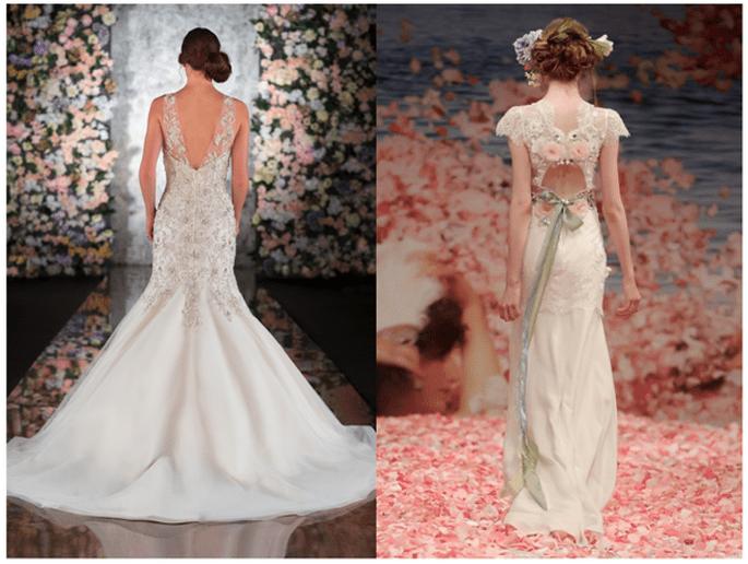 Vestidos de novia con escote en la espalda - Foto Martina Liana y Claire Pettibone