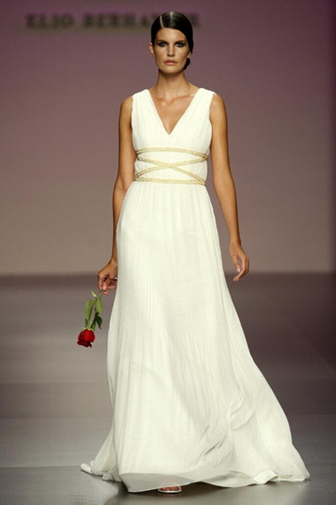 Vestido corte imperio, estilo Diosa grecoromana. Muy romántico