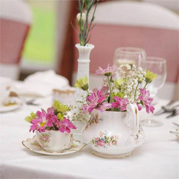 Imágenes Centros de mesa Vintage - Fiestas con estilo Vintage