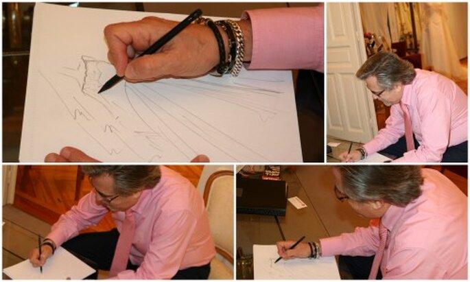 Petro Valverde nos hace un diseño de novia para Zankyou