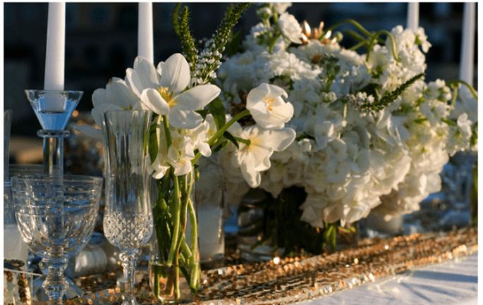 Los centros de mesa con flores más elegantes para 2014 - Foto Sarah Carpenter Photography