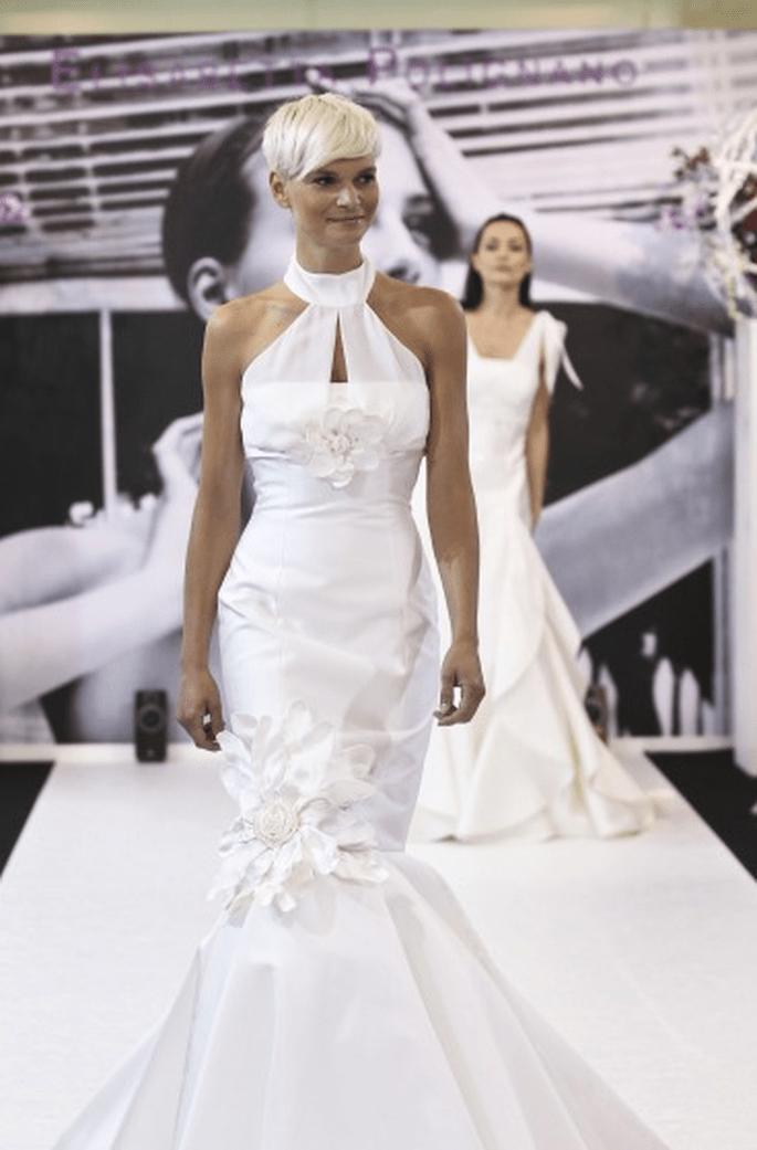 Originale abito con motivi floreali - Elisabette Polignano