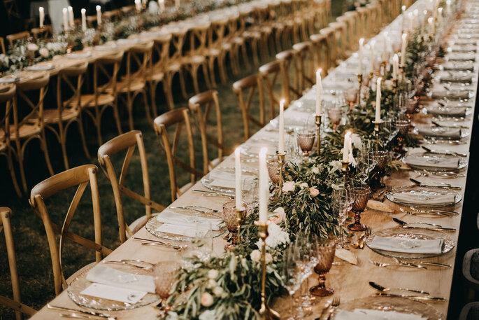 Entre tonos pastel decoración boda al aire libre