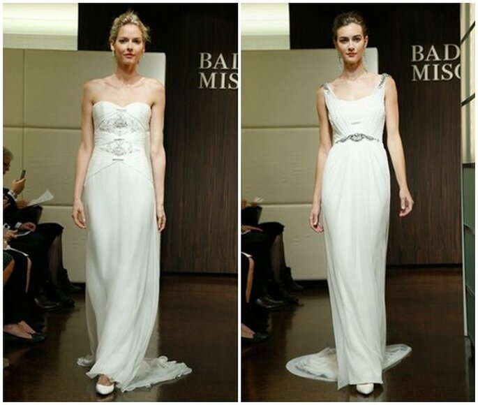 Simple mais top chic. Robes de mariée Badgley Mischka automne 2013. Photo: www.badgleymischka.com