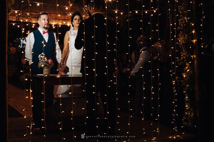 Luzes decoração de casamento