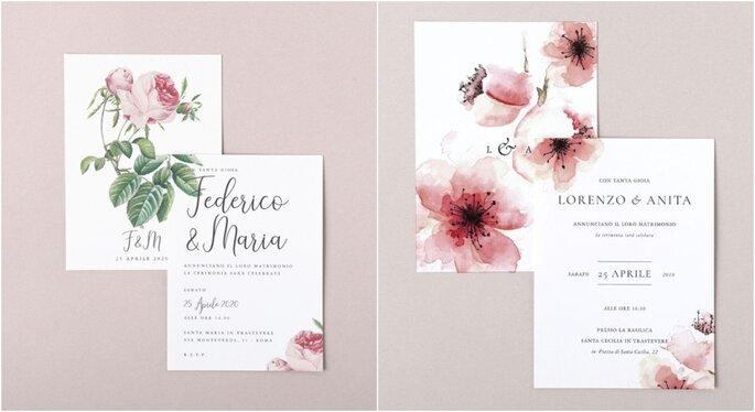 Invitaciones para bodas en jardines