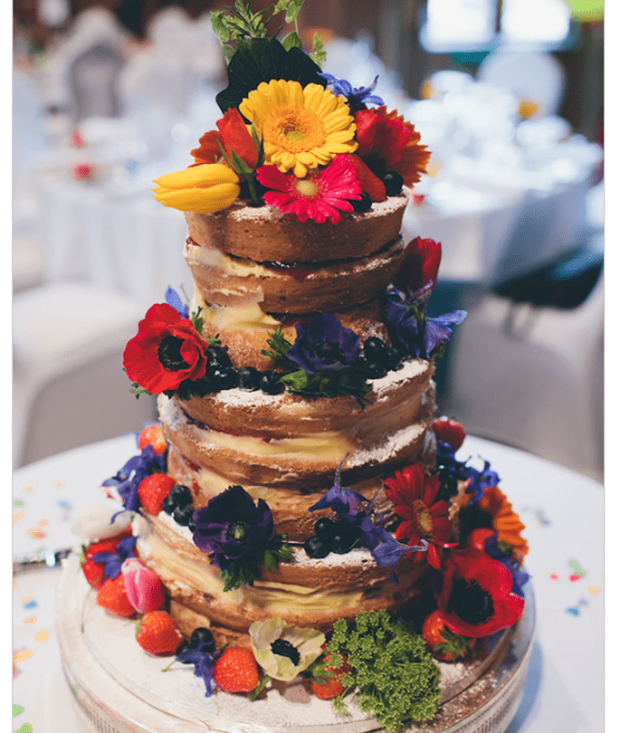 La tarta naked cake tendencia en bodas | Bodas