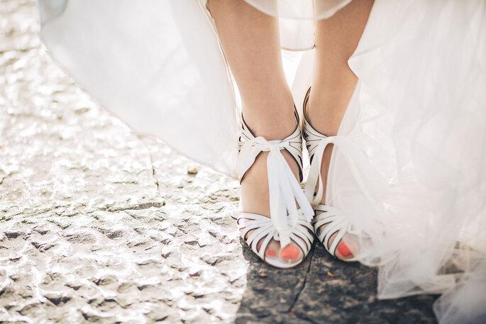 sapatos pés da noiva