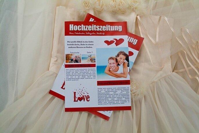 Erstellen Sie Ihre Hochzeitszeitung bei Schobuk - Foto: Schobuk.com