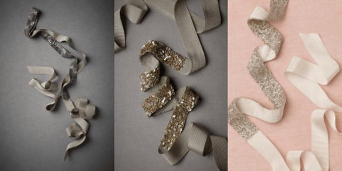Cinturones de pedrería para vestido de novia en colores de temporada - Foto BHLDN