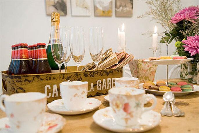 El taller incluye también un catering y un servicio de cócteles. Foto: Bohochic