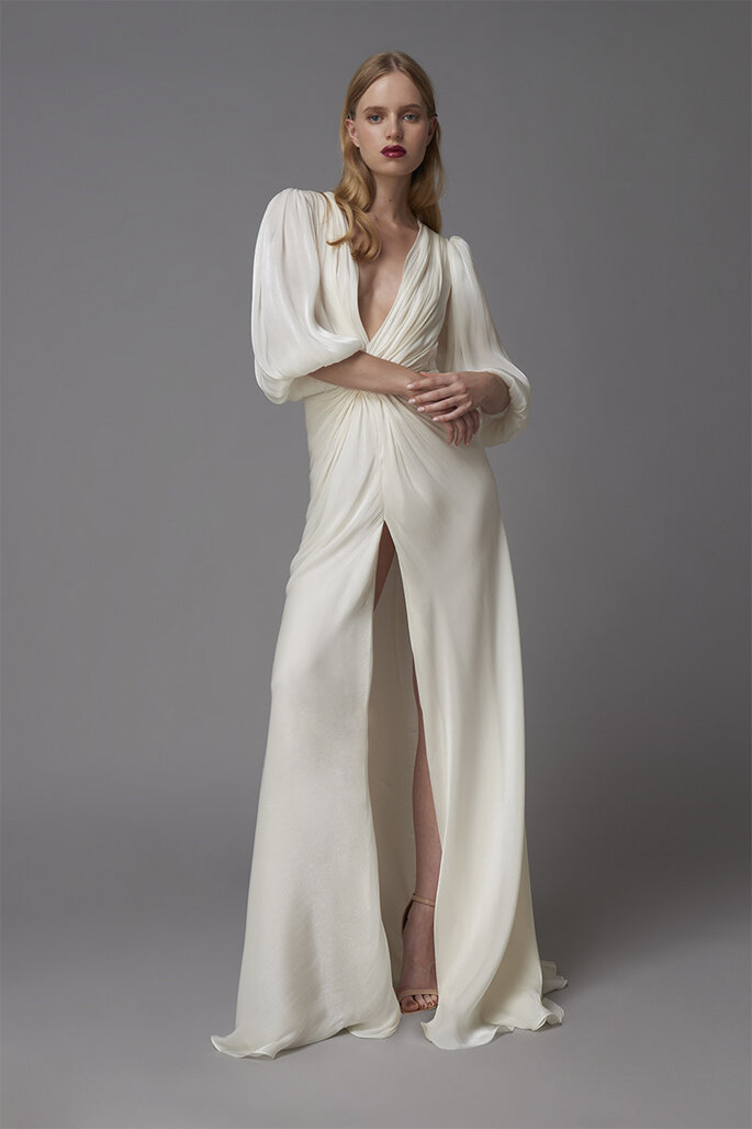 Robe de mariée Demetria par Costarellos.