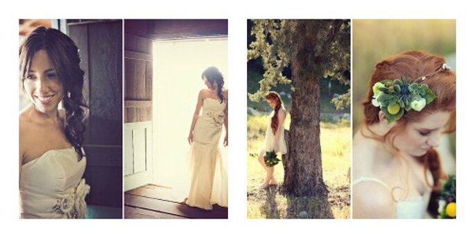 Coiffures avec tresses. Photo:  sloan photographers pour real wedding courtney noahs ranch wedding httpgreenweddingshoes.com et Lukas vanDyke photography pour httpgreenweddingshoes.coman-irish-love-shoot