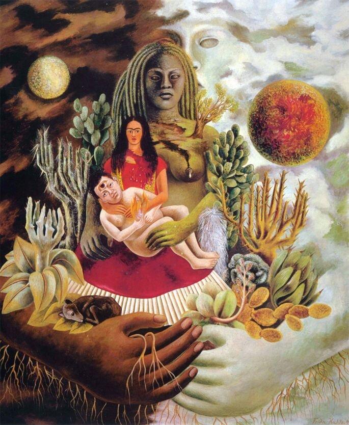 Дружеские объятия Вселенной, земли (Мексики), Я, Диего и Сеньор Холотль, Фрида Кало