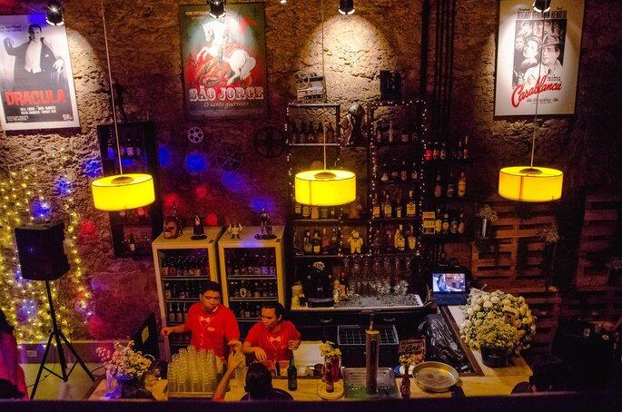 casamento no bar