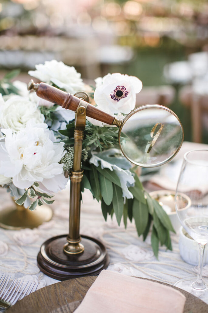 Decoración de boda vintage