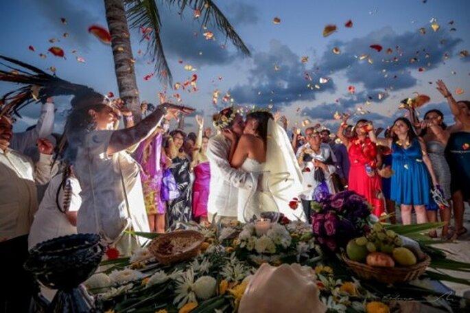 Elige la boda Shamanica Maya como una ceremonia memorable para tu boda - Foto Rodrigo del Río