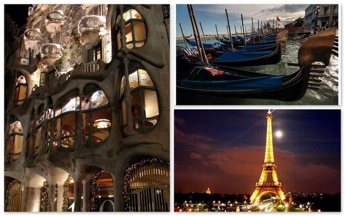 Barcellona, Parigi e venezia