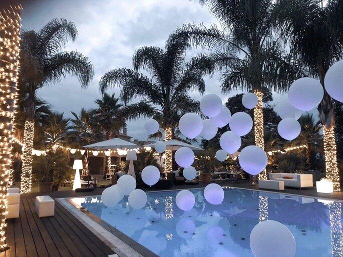 decoração casamento com balões