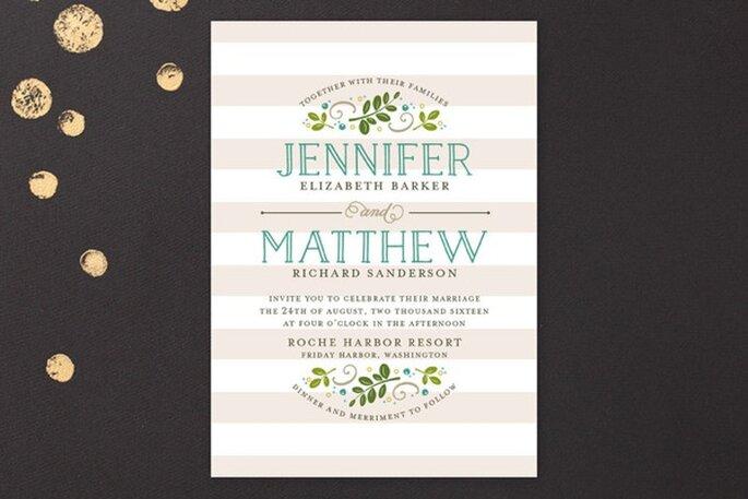 Diseños contemporáneos para invitaciones de boda - Foto Minted