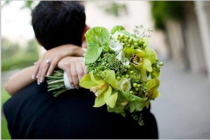 Ramo de novias verde - Foto floresdemallorca