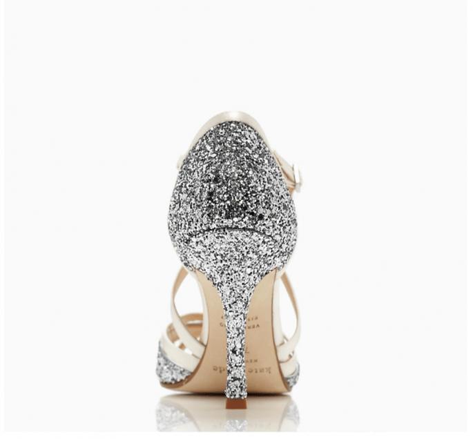 Tacones metalizados como tendencia en zapatos de novia 2015 - Foto Kate Spade