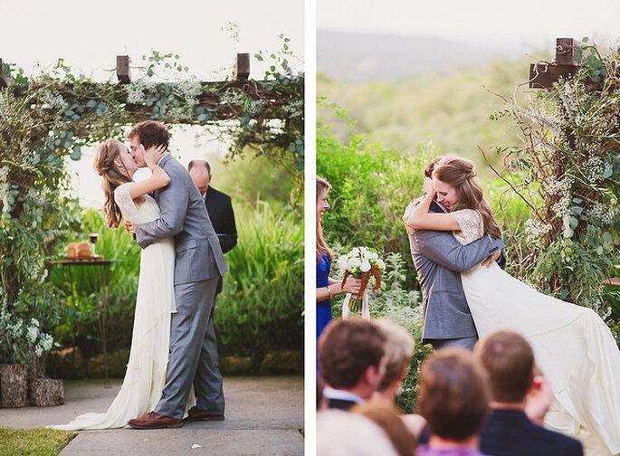 ¡El cabello trenzado para los remirrecogidos también nos encanta! Foto: Closer to Love Photographs