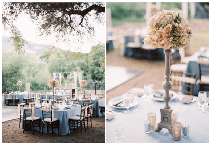 Los centros de mesa con flores más elegantes para una boda en 2014 - Foto Ryan Ray