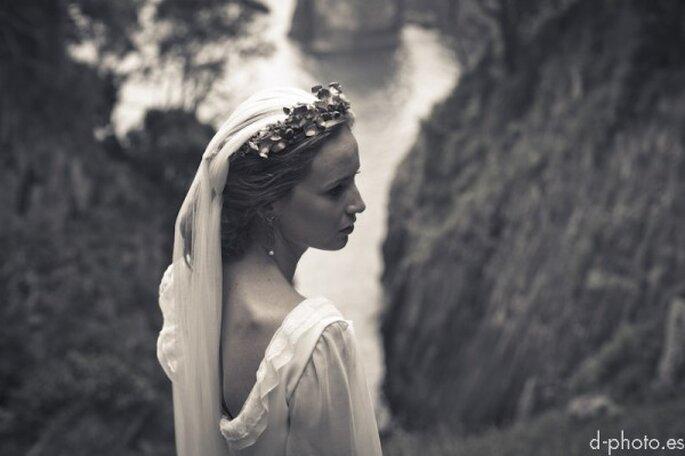 Sesión de fotos de novia inspirada en una princesa enamorada - Foto d-photo.es