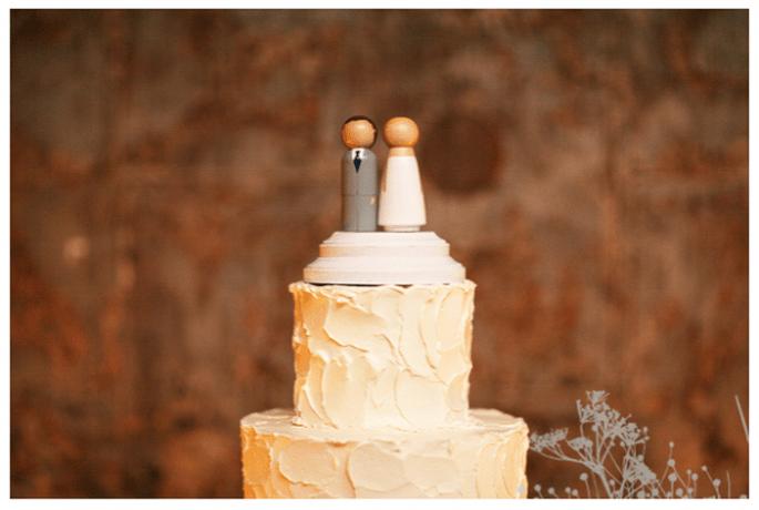 Muñequitos divertidos para el pastel de bodas - Foto Melissa Schollaert
