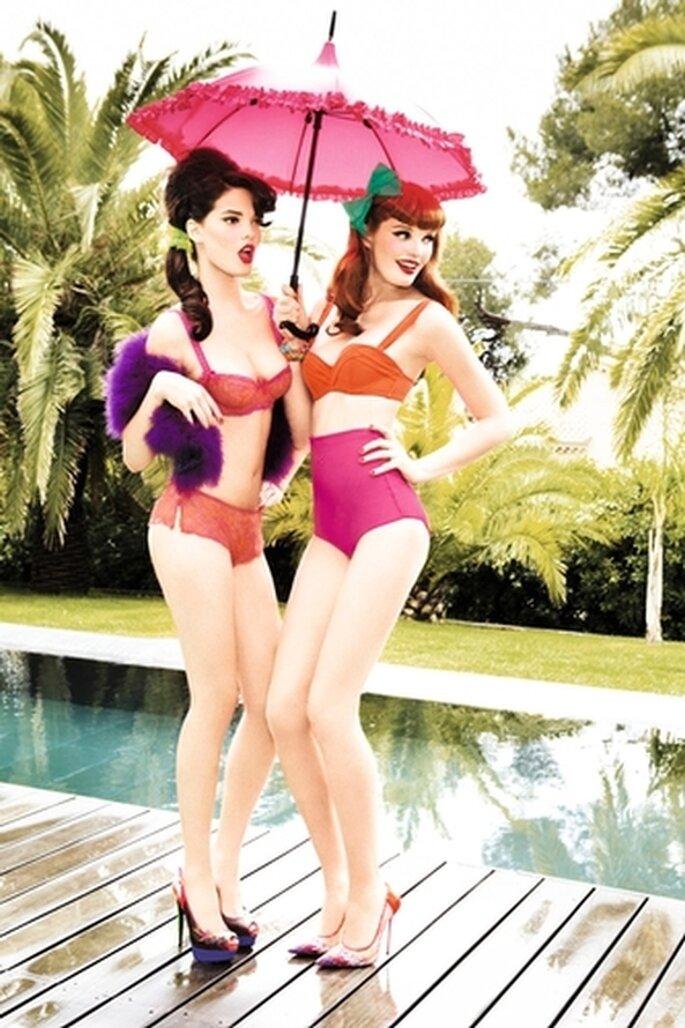 Colori fluo in pieno stile anni 50 per la lingerie 2013 firmata Chantal Thomass
