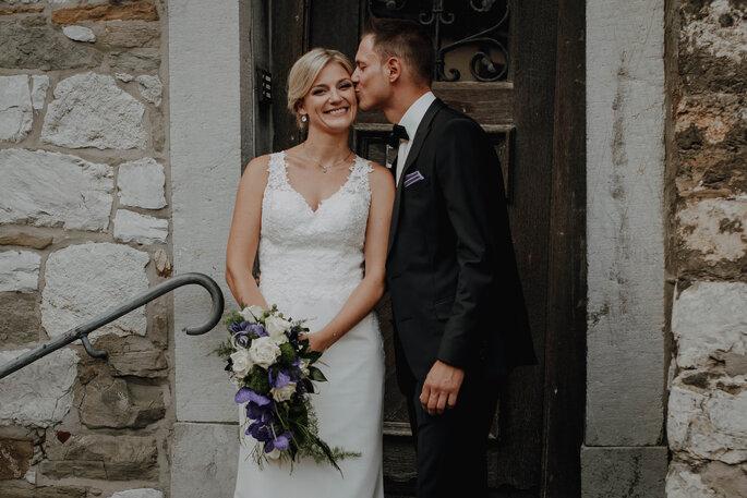 Herzensmensch Fotografie Hochzeitskuss