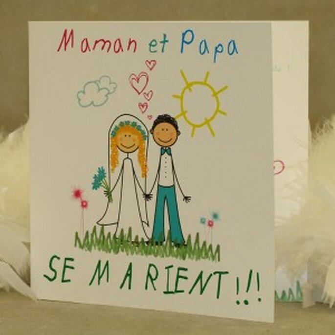 """Faire-part de mariage """"Maman et Papa se marient"""""""