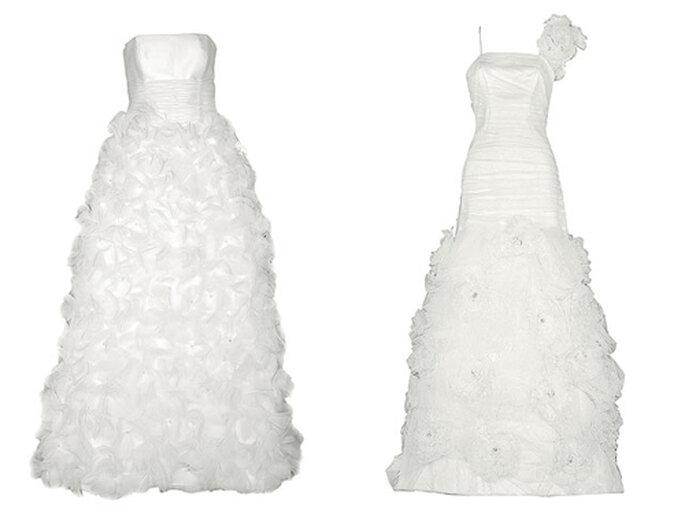 Classici e imponenti insieme questi due modelli di Isabel Leguina (sinistra) e Maria Alegre (destra). Foto: bodahoy.com