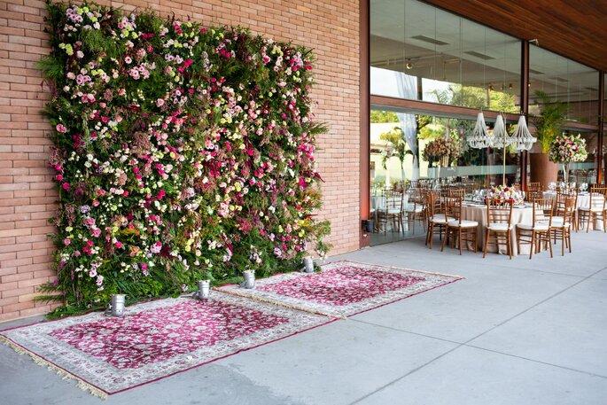 Backdrop de flores para fotos