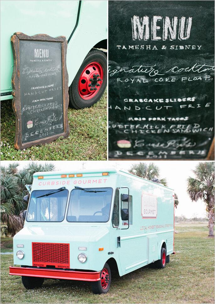 Food trucks para un rico banquete de boda - Foto Chelsea Boatwright