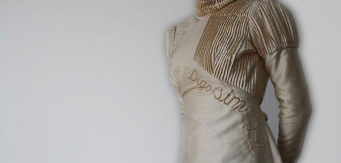 Vestido de noiva bordado pela Storylovers