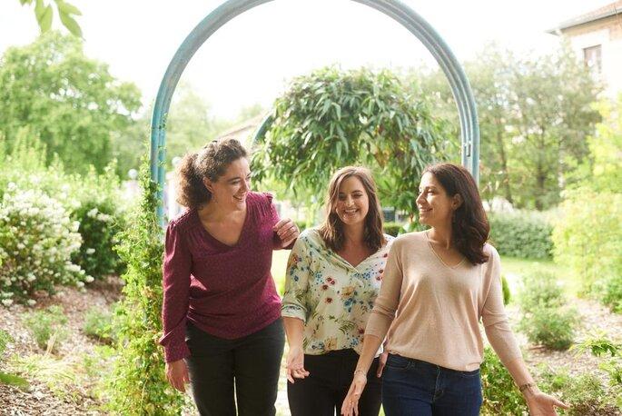 Charlotte Beuvelet, Anne-Claire Couillard et Virginie Mention, fondatrices de l'EFMM.