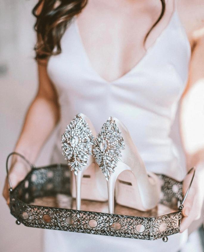 los zapatos personalizados que toda novia quiere para el día de su