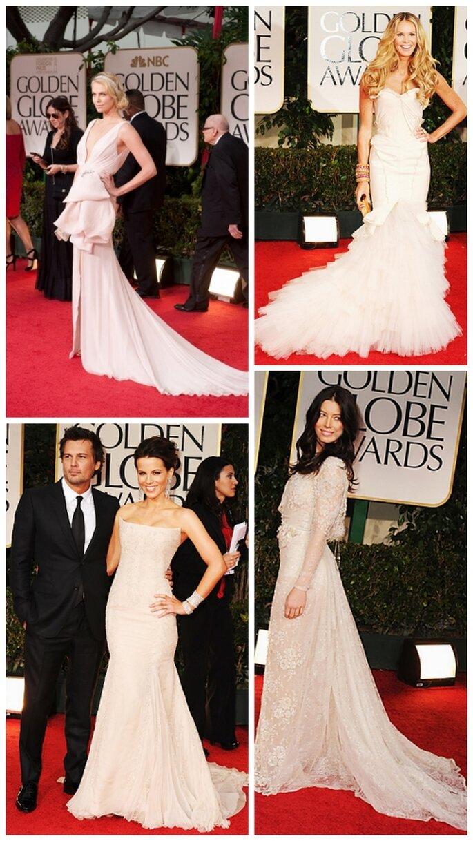Charlize Theron, Elle Macpherson, Kate Beckinsale, Jessica Biel en Golden Globes 2012