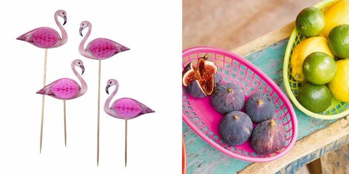 Flamingo sticks 12 piezas
