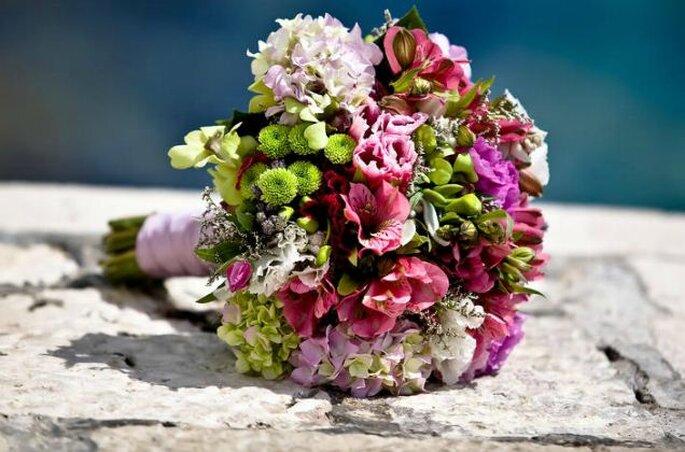 Bukiet ślubny z pracowni Groszki i Róże