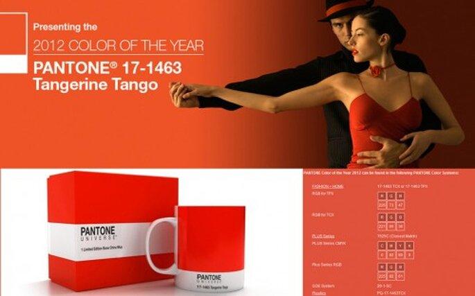 Pantone color del año 2012 Tangerine Tango