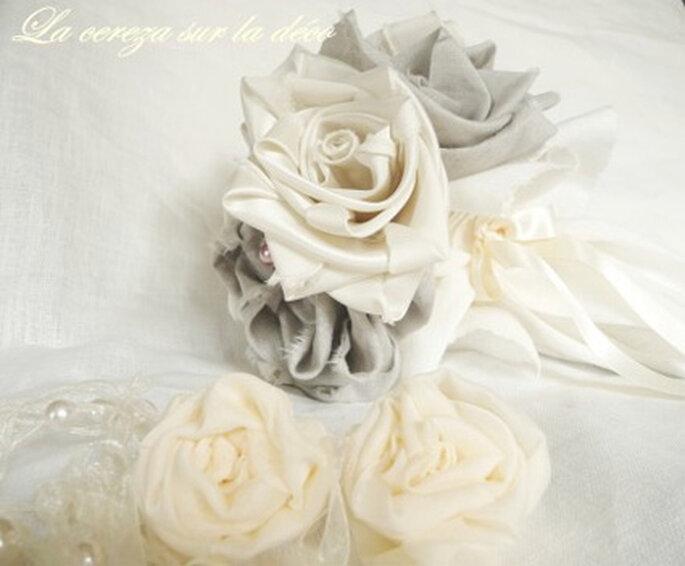 Bouquet de mariée en tissu