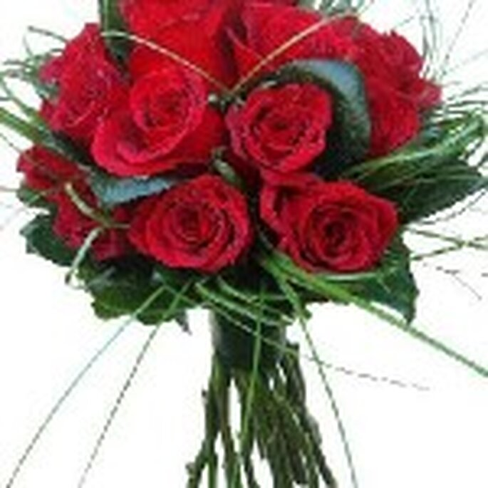 Bouquet de novia en color rojo