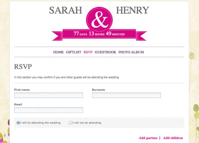 Wedding Rsvp Website.Manage Your Guest List Via Your Zankyou Wedding Website