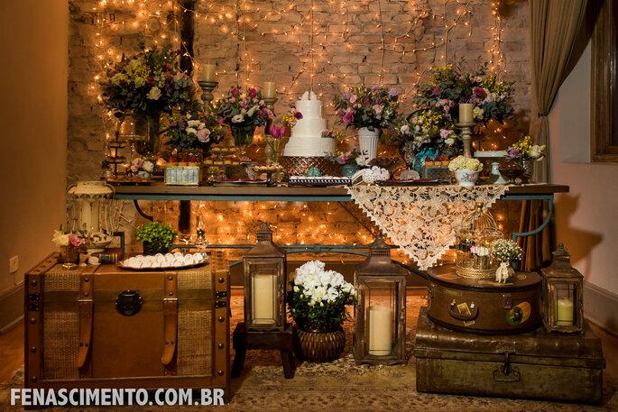 decoração de casamento romântica